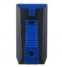 Зажигалка сигарная Colibri Slide (двойное пламя), черно-синяя