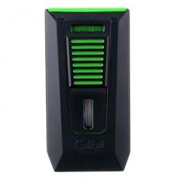 Зажигалка сигарная Colibri Slide (двойное пламя), черно-зеленая