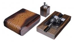 Набор сигарных аксессуаров Gentili на 15 сигар (SET-SV10-Croco-Brown-2)