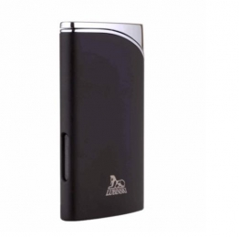 Зажигалка Lubinski «Гаэта», плоская, турбо, черная матовая (WA560-4)