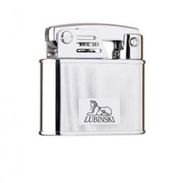 Зажигалка Lubinski «Бассано», кремневая, серебристая в полоску (WD570-1)