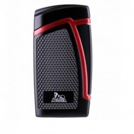 Зажигалка Lubinski «Дрэгон» турбо, двойное пламя, черно-красная (WJ300-3)