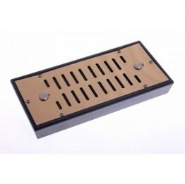 Увлажнитель Lubinski со шторками на 70 сигар (губка) золотистый